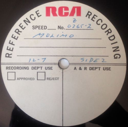 Kiss Related Recordings Molimo Rca Demo Acetate 1971