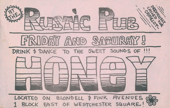 Honey Gig Flyer